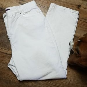 Gloria Vanderbilt White Jean's Sz 16 short